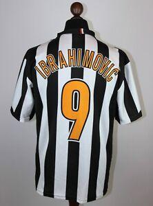 Retro JUVENTUS Italia Calcio Casa Maglietta #9 IBRAHIMOVIC Taglia-XL