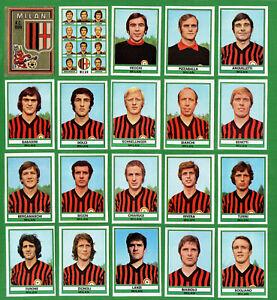 CALCIATORI-PANINI-1973-74-MILAN-completo-19-figurine-scudetto-da-recupero