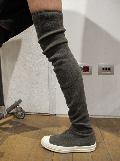 Rick Owens & Leather Sock Boots FVNOc53au