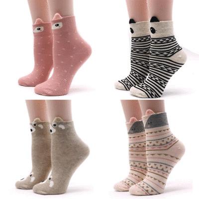 Cute Lovely Cartoon Animal Zoo Women Socks Ladies Girls Cotton Warm Soft Sox