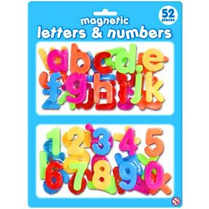 Set-of-52-Magnetic-Letters-and-Numbers-Alphabet-Fridge-Magnets-Children-039-s-Gift