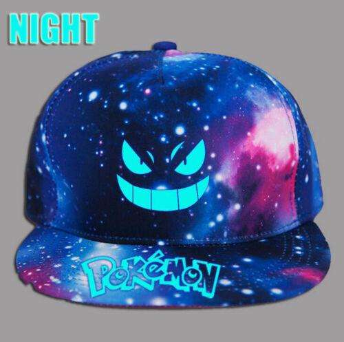Unisex Pokemon Luminous Gengar Casquette Caps Boys Baseball Hats Snapback UK