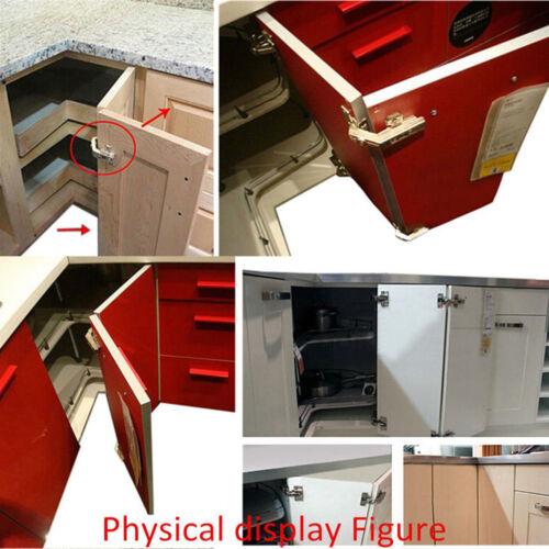135° Degree Corner Folded Cabinets Doors Hinges Soft Close Half Overlay Kitchens