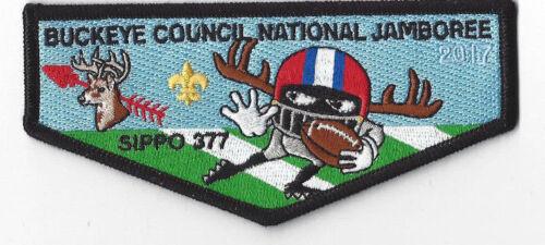 OANJ240 2017 National Jamboree OA Lodge 377 Sipp-O Flap Black Border