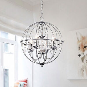 Chrome crystal orb chandelier light globe pendant with crystals chrome crystal orb chandelier light globe pendant with aloadofball Image collections
