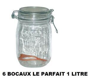Set-6-Barattoli-le-Parfait-Taglia-1-Litro-Barattolo-in-Vetro