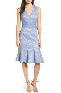 Women-039-s-Vince-Camuto-Lace-Sheath-Dress-Light-Blue-Size-0P