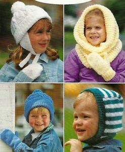 #117 Boys /& Girls Gloves and Mittens DK Vintage Knitting Pattern