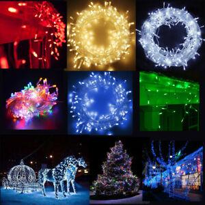 100 Led Weihnachten Lichterkette Aussen Beleuchtung Fenster Garten