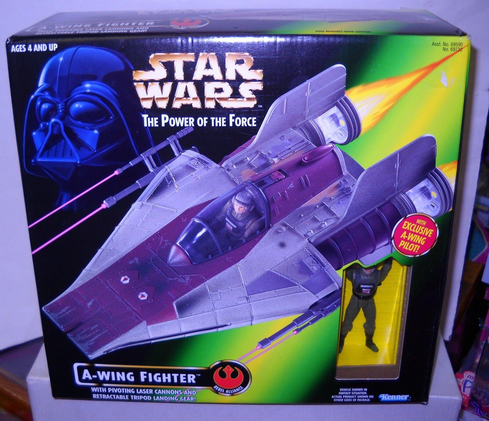 4845 nunca quitado de la caja Estrella wars poder de la fuerza de un luchador ala con un ala piloto figura