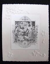 Antique Victorian Catholic Religious Printed Bible Prayer Card - The Nativity