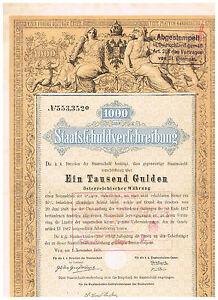 Staatsschuldverschreibung-Osterreich-Wien-1868-1000-Gulden