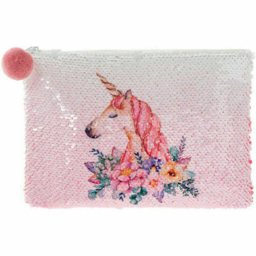 Unicorn Sequin Bags Girls Fashion Accessories Shoulder Bag Make Up Clutch Bag