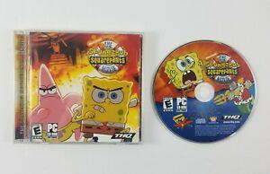 SpongeBob-Squarepants-The-Movie-Game-PC-CD-ROM-Nickelodeon-Complete-in-Case
