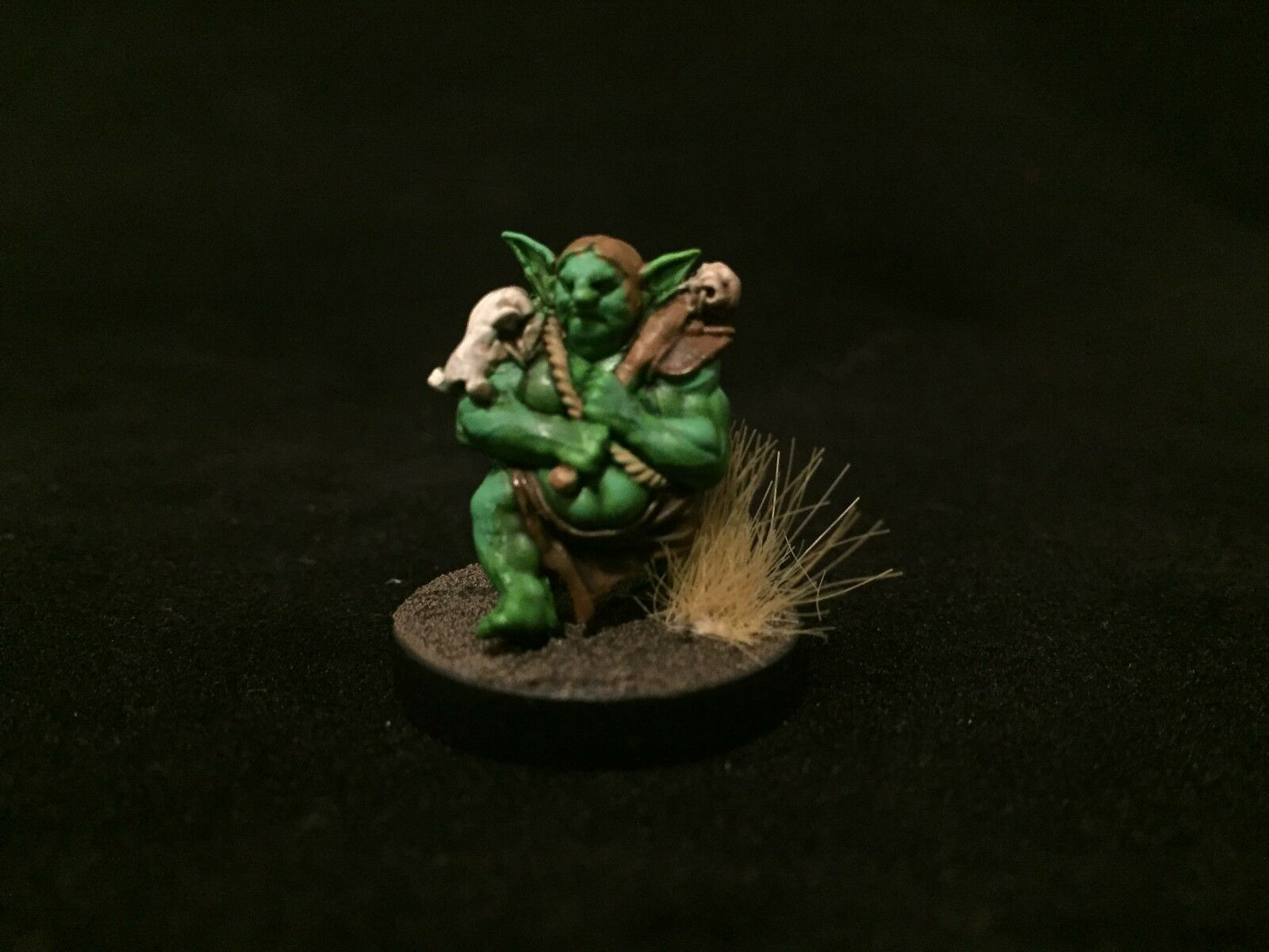 Painted Miniature Goblin D&D pathfinder Role Jugaring