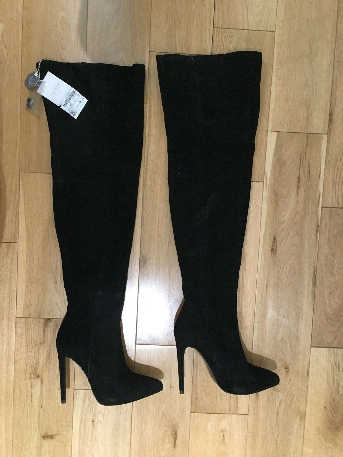 NWOB Zara Black Thigh High Boots EU 36 36 36 291256