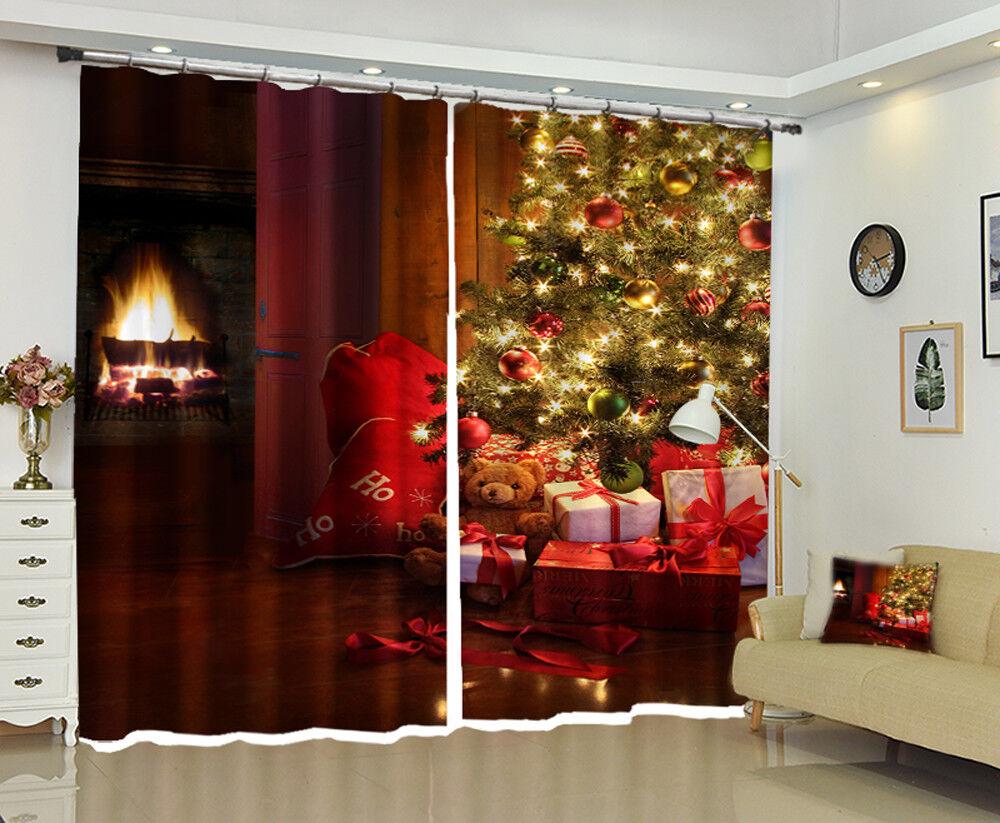 3d Natale extra 120 blocco foto sipario pressione sipario sostanza finestra de