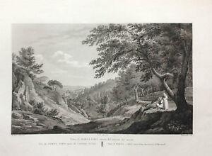 VALENCIA-MONASTERIO-DE-PORTA-COELI-Laborde-grabado-original-1806-a-1820