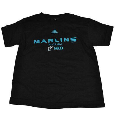 Mlb Adidas Florida Miami Marlins Junge Kinder Lizenziert Toddler T-shirt Schwarz Ausgereifte Technologien Sport