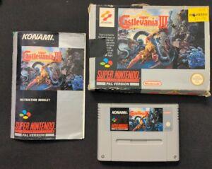 Super Nintendo Snes Juegos BOXED PAL SUPER CASTLEVANIA IV 4 Konami CIB