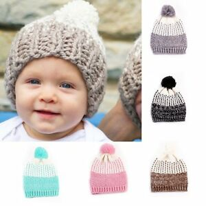 Toddler Kids Girl&Boy Baby Infant Winter Warm Crochet Knit Hat Beanie Ski Cap