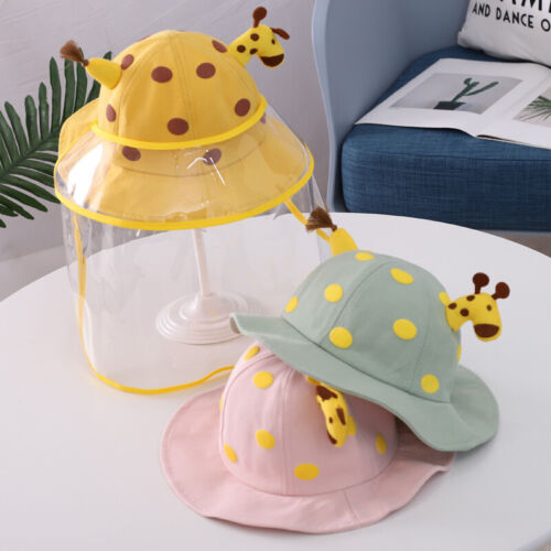 Kids Anti-Spitting Protective Hat with Safety Face Shield Removable For Outdoor