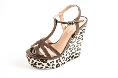 Scarpe Pura Donna Zeppe Marrone Pelle Sandals Shoes Ad227 Lopez 7r7YqS5