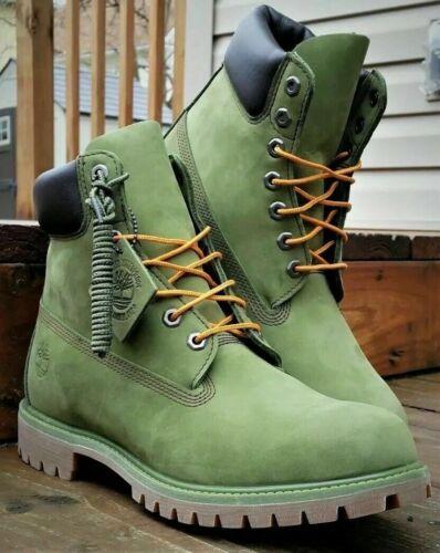TIMBERLAND MEN/'S PREMIUM 6 INCH CLASSIC BOOTS TB0A1M72 PRESTO GREEN WATERBUCK