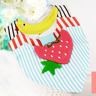 New 2pcs Head Scarf Baby Girls Dribble Boys Triangle Saliva Towel Bandana