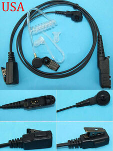 10X 3.5mm Clear Acoustic Tube Listen Only Earpiece FBI style For Two Way radio