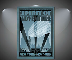 The Spirit of Adventure New York Vintage Poster A3 A1 A2 A4 sizes