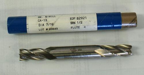 "Fastcut 7//16/"" 4 Flute DE Cobalt  Endmill End Mill #82921 CA-13 CA13 Made in USA"