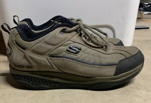 Sketchers-Shape-Ups-Pebble-Brown-Suede-Toning-Shoes-52000-Mens-Size-11
