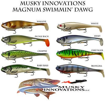 Musky Innovations Magnum Swimmin/' Dawg Musky Pike Muskie Bait Lures Swimbait
