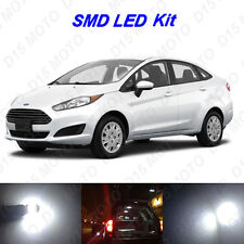 9 x White LED Interior Bulbs + License Plate Lights For 2011-2016 Ford Fiesta