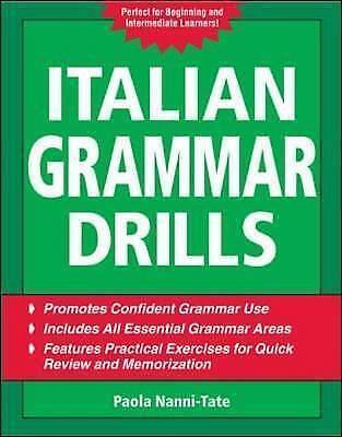 Italian Grammar Drills (Drills Series), Nanni-Tate, Paola, Very Good Book