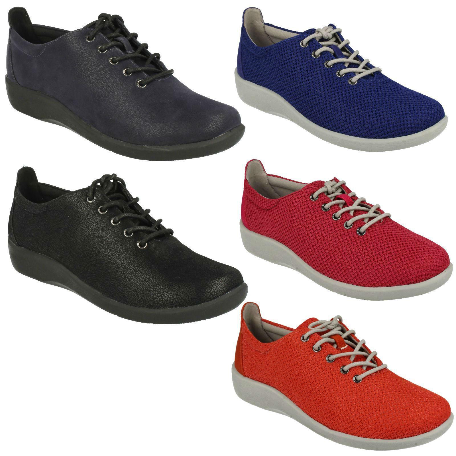 Sillian Tino Damas Clarks Zapatos Con Cordones Plana Plana Plana Informal Zapatillas Talla Pantalones  forma única