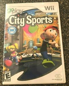 Go-Play-City-Sports-Nintendo-Wii-Game-Balance-Board-Game-COMPLETE-Free-Ship