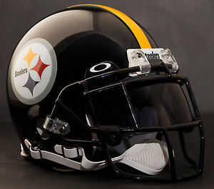 Image is loading PITTSBURGH-STEELERS-NFL-Authentic -GAMEDAY-Football-Helmet-w- 8d94e9c0bcd3