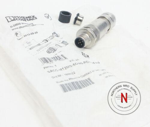 PHOENIX CONTACT 1694266 MALE M12 CONNECTOR 5-PIN SACC-M12MS-5CON-PG9-SH-AU