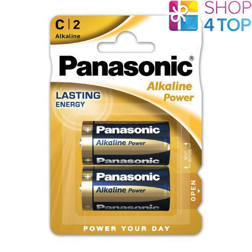 2 Panasonic Alkaline Power C lr14 Batteries Blister 1.5v Baby r14 mn1400