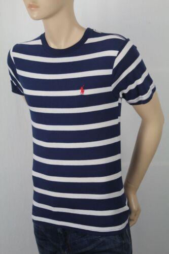 Ralph Lauren Childs Blue Cream Striped Short Sleeve Crewneck Tee T-Shirt NWT