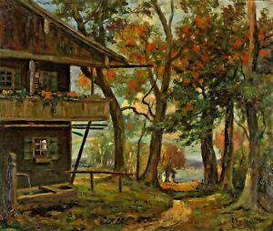 Georg-Zenker-1869-Ferme-et-Paysage