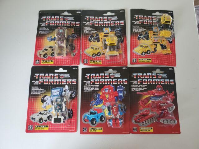 Hasbro Transformers G1 Minibot Reissue Lot 3 Inch Bumblebee x2 ,Warpath,Gears