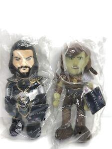 Warcraft 2016 Anduin Lothar Garona 10in Plush Figures Not Opened