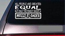 "Muzzleloader equal Sticker *G694* 8"" vinyl black powder deer hunting powder horn"