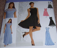 Bridal Wedding Dress Gown Pattern Sundress Prom Misses 4-12 Short Long Princess