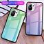 miniatura 5 - COVER per Xiaomi Mi 11 Lite CUSTODIA ORIGINALE Gradient Glass + VETRO TEMPERATO
