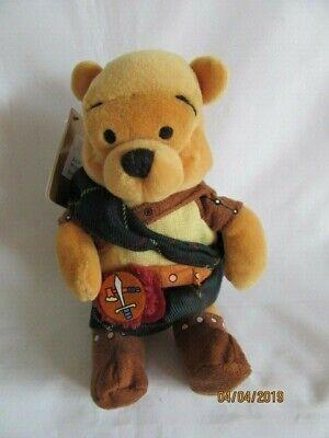 """Disney Store - 8"""" Winnie The Pooh-highlander-beanie Peluche Giocattolo Morbido-mostra Il Titolo Originale"""