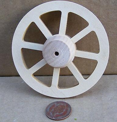 Escala 1:12 4cm de diámetro radios rueda de madera con un concentrador tumdee Jardín De Casa De Muñecas